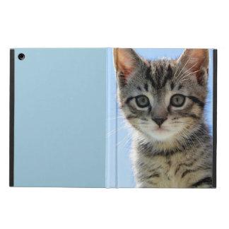 Kitten face up-close iPad air cover