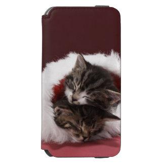 Kittens asleep together in Christmas hat Incipio Watson™ iPhone 6 Wallet Case