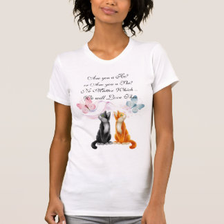 Kitties and Butterflies Expecting T-Shirt