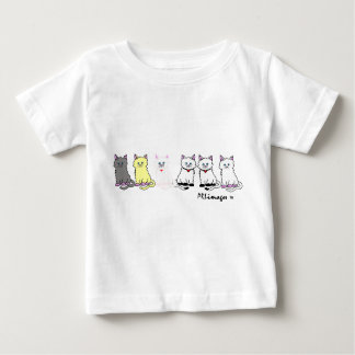 Kitties In A Row InfantT-Shirt Baby T-Shirt