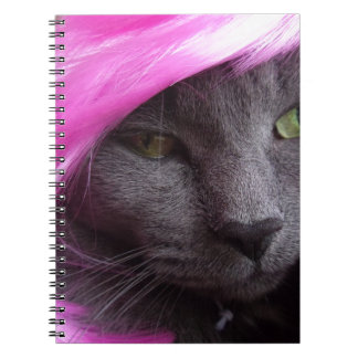 Kitty as Pink Diva. Spiral Notebook