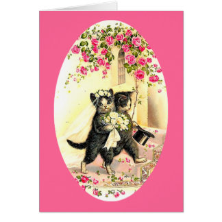 Kitty Cat Wedding Greeting Card