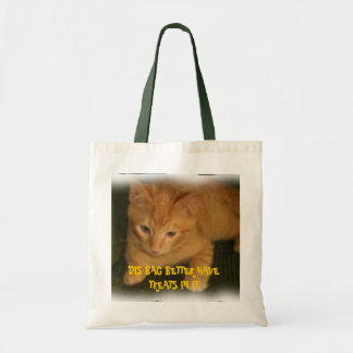"""Kitty """"DIS BAG BETTER HAVE TREATS IN IT"""" Tote Bag"""