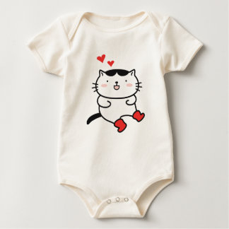 Kitty in Boots on Clothing Baby Bodysuit