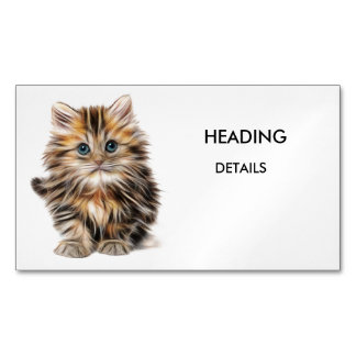 KITTY MAGNETIC BUSINESS CARD