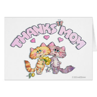 Kitty Thanks Blank Note Card