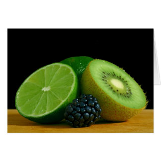 Kiwi and lime card