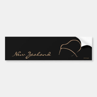 KIWI Art Bumper Sticker