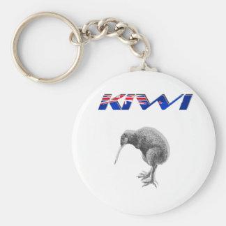 Kiwi Bird New Zealand flag logo gifts Basic Round Button Key Ring