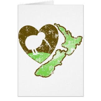 Kiwi bird NEW ZEALAND with a love heart Card
