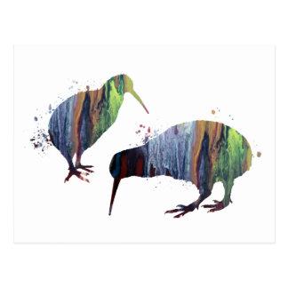 Kiwi birds postcard