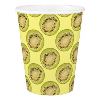 Kiwi Colorful Pattern Paper Cups