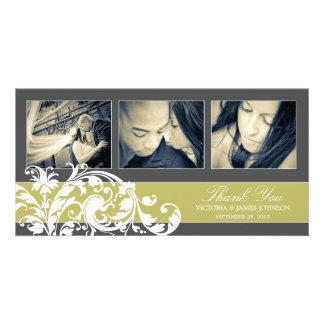KIWI FLOURISH   WEDDING THANK YOU CARD