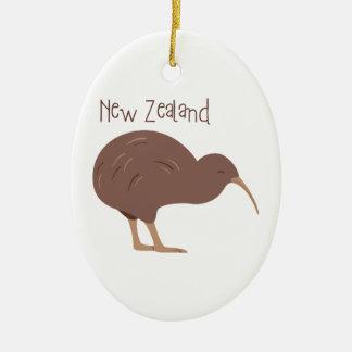 Kiwi New Zealand Bird Christmas Ornament
