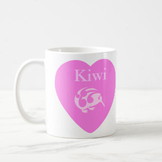 Kiwi pink heart cup