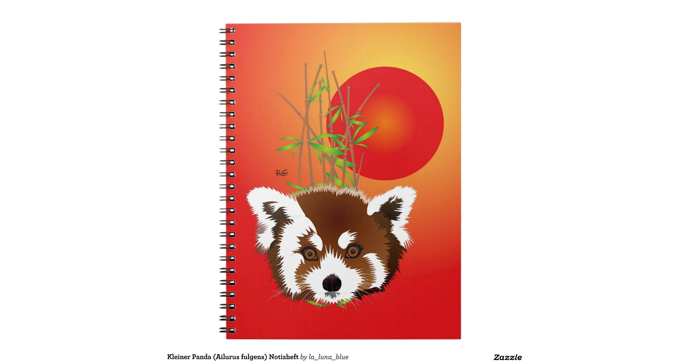 Kleiner panda ailurus fulgens notizheft spiral notebooks - Kleiner couchtisch weiay ...