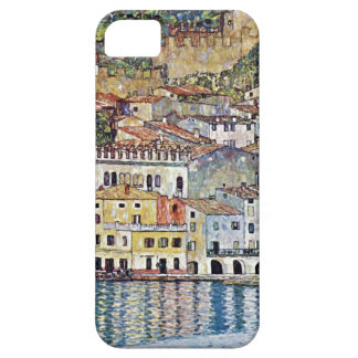 Klimt cityscape painting blue barely there iPhone 5 case