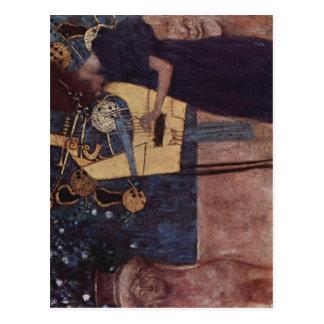 Klimt, Gustav Die Musik 1895 Technique ?l auf Lein Post Cards