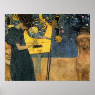 Klimt - Music Print