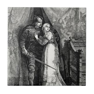 Knight and Fair Maiden Tile