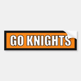 Knights - Black Orange White Bumper Sticker