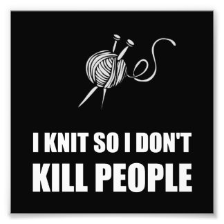 Knit Kill People White Photo Print