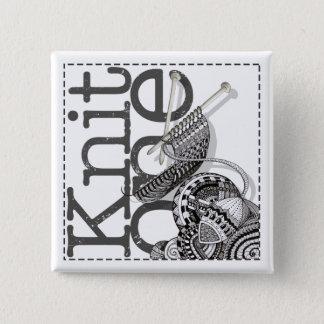 Knit One Doodle Art 15 Cm Square Badge
