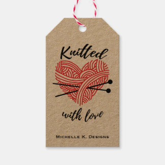 Knitted with Love / Handmade Care Crafts Gift Tags