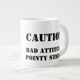 Knitter with an attitude giant coffee mug