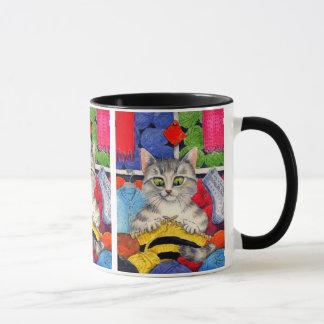 Knitting cat cute and funny mug