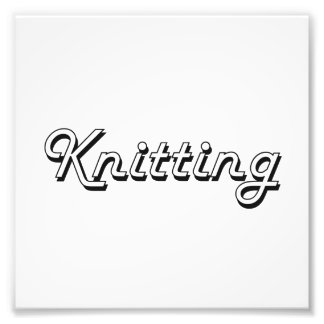 Knitting Classic Retro Design Photograph