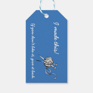 Knitting Gift Tags with Care Instructions