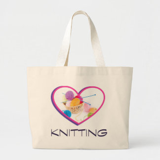 Knitting Large Tote Bag