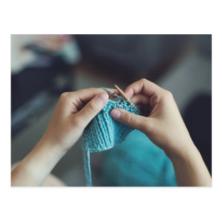 knitting postcard