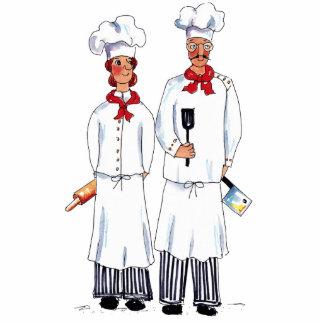 Kniving Chefs Photo Sculpter Standing Photo Sculpture