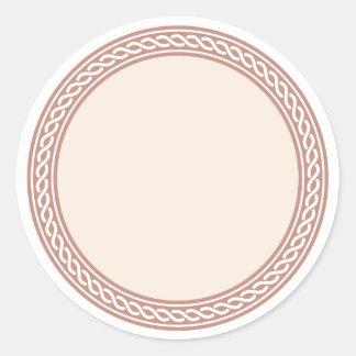 Knots Border Blank Template Label Round Sticker