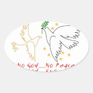 Know God Oval Sticker