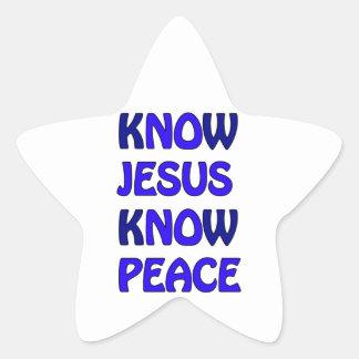 Know Jesus Know Peace No Jesus No Peace Dark Blue Star Sticker