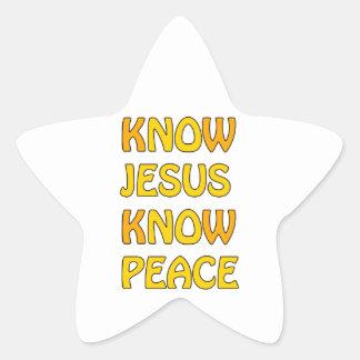 Know Jesus Know Peace No Jesus No Peace In A Orang Star Sticker