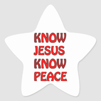 Know Jesus Know Peace No Jesus No Peace In A Red Star Sticker