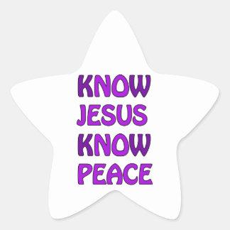Know Jesus Know Peace No Jesus No Peace In Purple Star Sticker