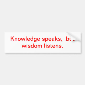 knowledge car bumper sticker