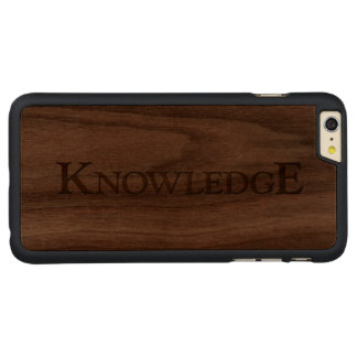 KNOWLEDGE CARVED® WALNUT iPhone 6 PLUS CASE