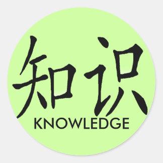 KNOWLEDGE CLASSIC ROUND STICKER
