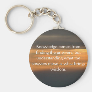 Knowledge comes from... keychain