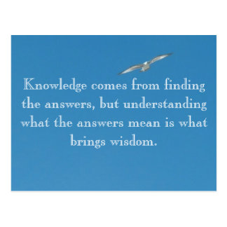 Knowledge comes from... postcard
