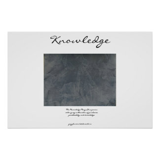 Knowledge - Feng Shui - Gray Poster
