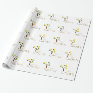 Knowledge Grows Wrapping Paper