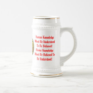 Knowledge Human and Divine Beer Stein