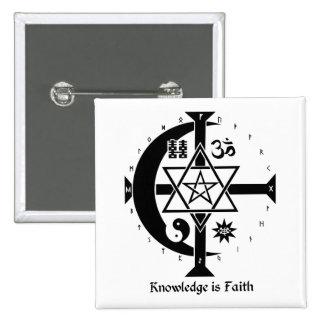 Knowledge is Faith 15 Cm Square Badge